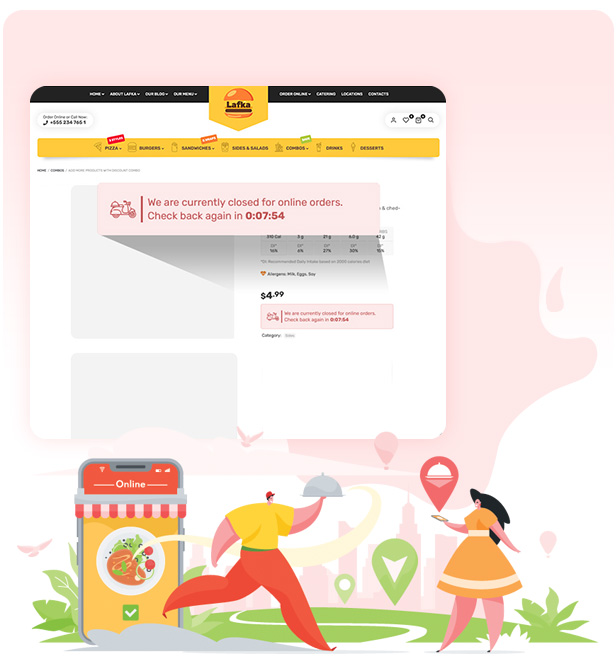 Lafka - WooCommerce Theme for Burger - Pizza & Food Delivery - 8