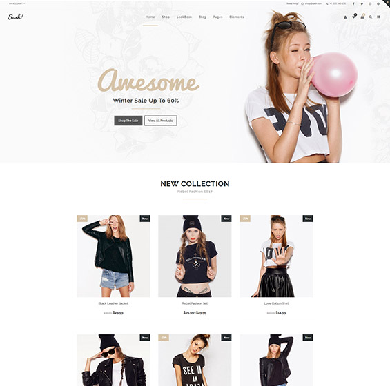 Sash Fashion WooCommerce theme 1