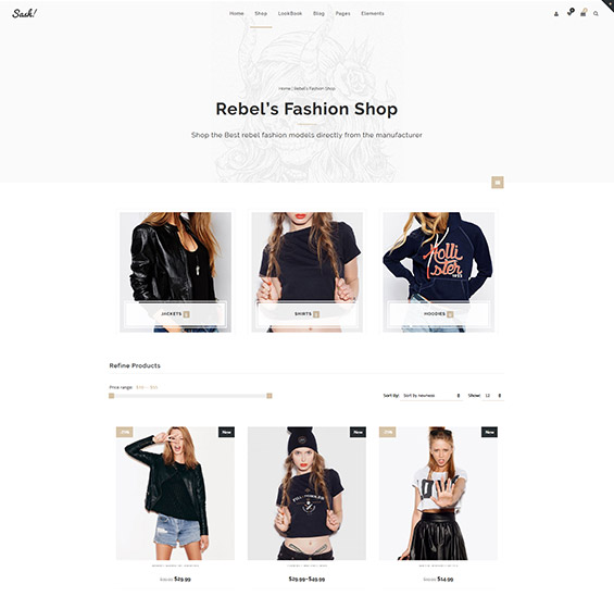 Sash Fashion WooCommerce theme 2