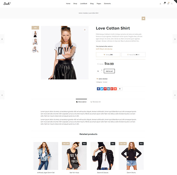 Sash Fashion WooCommerce theme 3