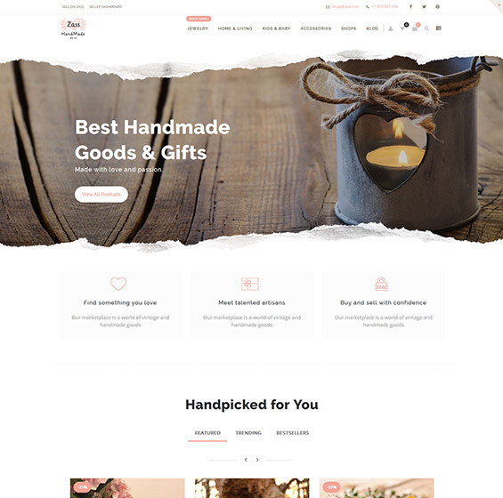Zass theme for handmade artists 1