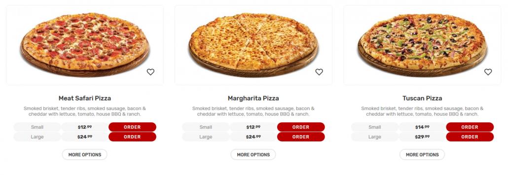 Pizza Order Variation