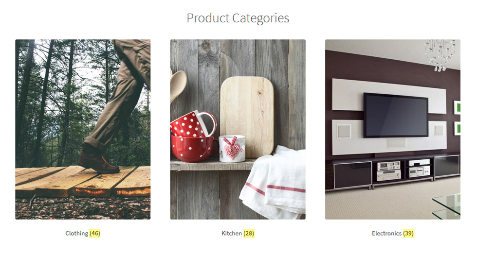 Woocommerce Categories Product Count